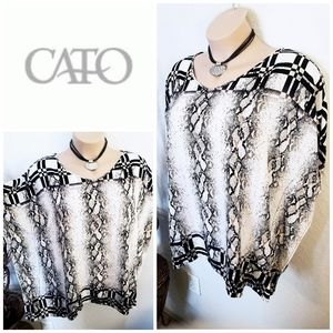 Geometric Tunic | Cato | Women's 2X